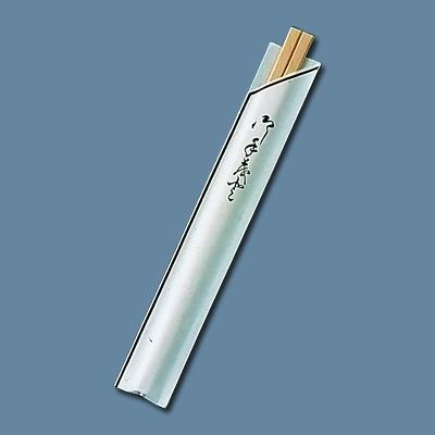 割箸袋入 茶線 白樺元禄 20.5cm (1ケース100膳×40入) 全長205mm( キッチンブランチ )