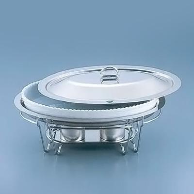 SAブローニュ 小判チェーフィング目皿付 7-PB200-44 492×313×H220mm <白>( キッチンブランチ )