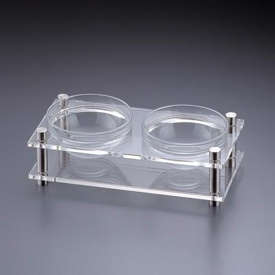 アクリル コンディメントスタンド 1段2穴 B30-4 (ボール別売) 320×160×H100mm( キッチンブランチ )
