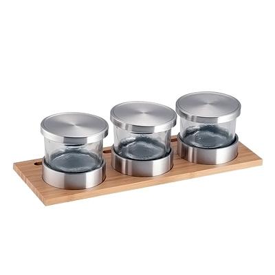 カル・ミル バンブー ジャー ディスプレイ 1850-4-60 φ105×H97mm( キッチンブランチ )