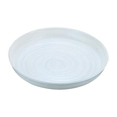 アルミ電磁用ドラ鉢 白刷毛目 尺2 370× 60mm( キッチンブランチ )