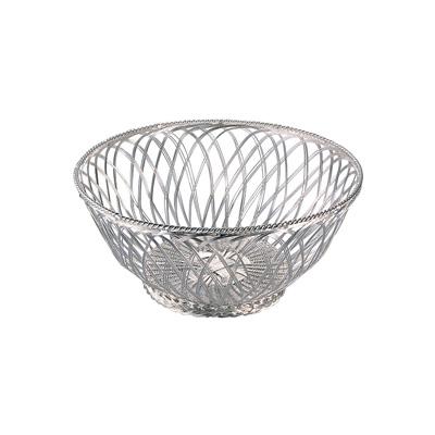 手編みバスケット フレンチバスケット 丸型 03410060 φ250×H100mm( キッチンブランチ )