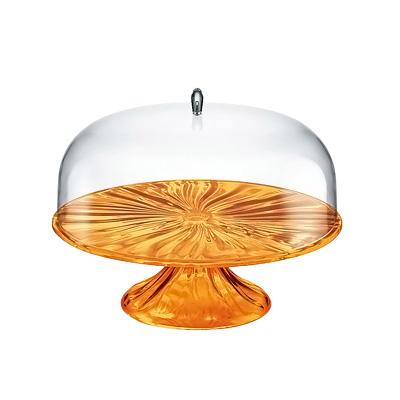 グッチーニ ケーキスタンド&ドーム S 2498.0045 φ270×H256mm <オレンジ>( キッチンブランチ )