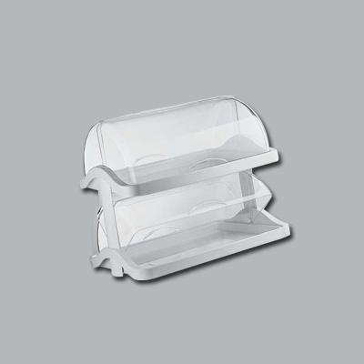グッチーニ ダブルオープン ブレットケース 2段 1881.0211 480×330×H410mm <ホワイト>( キッチンブランチ )