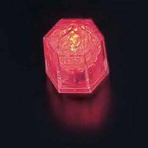 ライトキューブ・クリスタル(24個入)(標準輝度モデル) 38×33×H40mm <レッド>( キッチンブランチ )