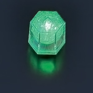 ライトキューブ・クリスタル(24個入)(高輝度モデル) 38×33×H40mm <グリーン>( キッチンブランチ )