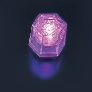 ライトキューブ・クリスタル(24個入)(高輝度モデル) 38×33×H40mm <パープル>( キッチンブランチ )
