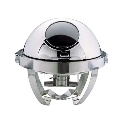 KINGO ステンレス マド付カバー式 丸チェーフィング (フルオープン) S6704 500×525×H440mm( キッチンブランチ )