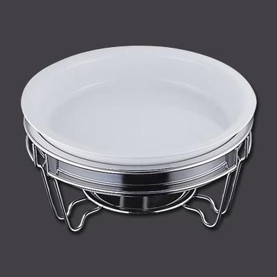 ヴァンセンヌ 丸チェーフイング MF仕様(目皿付) 陶器仕切無中皿 φ390×H200mm( キッチンブランチ )