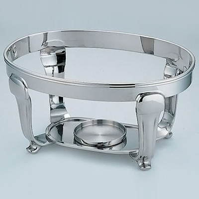 UK 18-8 バロン小判チェーフィング用 スタンド 24インチ 580×350×H200mm( キッチンブランチ )