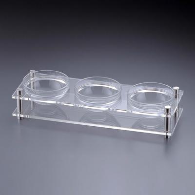 アクリル コンディメントスタンド 1段3穴 B30-3 (ボール別売) 480×160×H100mm( キッチンブランチ )