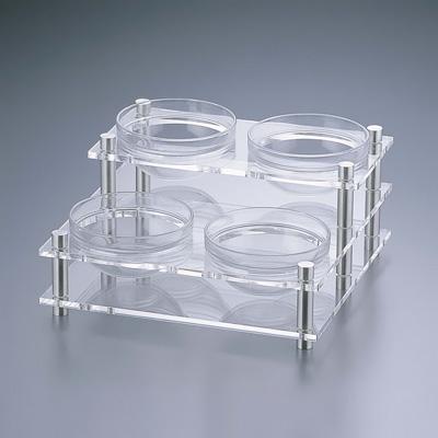 アクリル コンディメントスタンド 2段4穴 B30-2 (ボール別売) 320×320×H160mm( キッチンブランチ )
