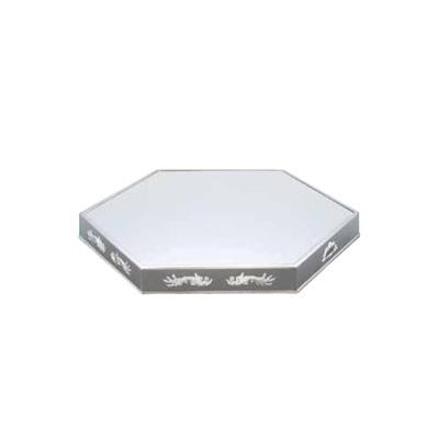 UK 18-8 六角型ミラープレート 20インチ (アクリル)( キッチンブランチ )