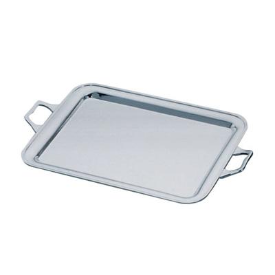 洋白3.8μ 角盆(無地手付) 16インチ 【 受注生産品の為 お時間を頂戴いたします 】 ( キッチンブランチ )