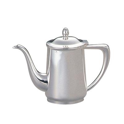 洋白3.8μ 小判型コーヒーポット 5人用 600c.c. 【 受注生産品の為 お時間を頂戴いたします 】 ( キッチンブランチ )