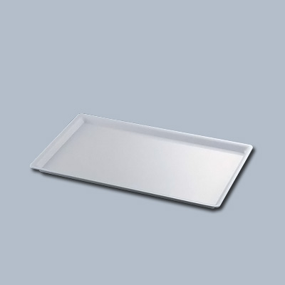 カル・ミル アクリルシャロートレー 325-12-15 524×321×H22mm <ホワイト>( キッチンブランチ )
