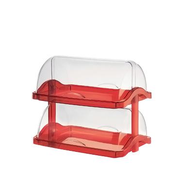 グッチーニ ダブルオープン ブレットケース 2段 1881.0265 480×330×H410mm <レッド>( キッチンブランチ )