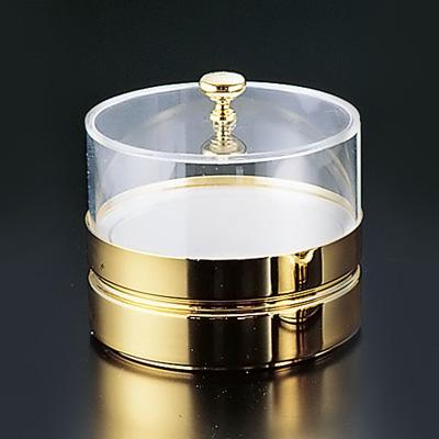 フレリック フレッシュディッシュ (切込付蓋) BFC-015GN φ185×177mm <ゴールド>( キッチンブランチ )