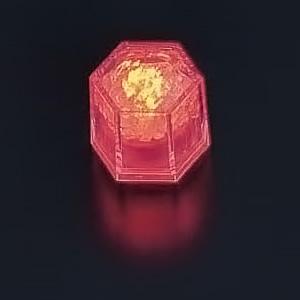 ライトキューブ・クリスタル(24個入)(標準輝度モデル) 38×33×H40mm <オレンジ>( キッチンブランチ )