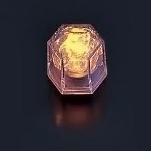 ライトキューブ・クリスタル(24個入)(標準輝度モデル) 38×33×H40mm <イエロー>( キッチンブランチ )
