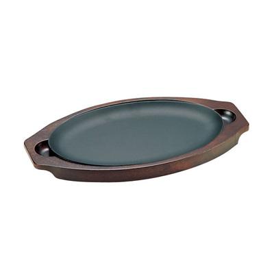 周弘 アルミクラッド鋼 ステーキ皿 小判型 270×175mm( キッチンブランチ )