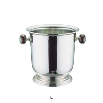 UK 18-8 バロン シャンパンクーラー台付 L (木柄ハンドル) 5L( キッチンブランチ )