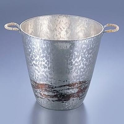銅錫被 刷毛目 ワインクーラー SG001 3.9L( キッチンブランチ )