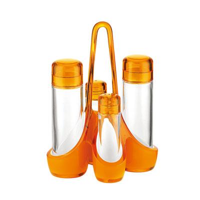 グッチーニオイル&ビネガーカスターセット 185×140×H240mm 2488.0045 <オレンジ>( キッチンブランチ )