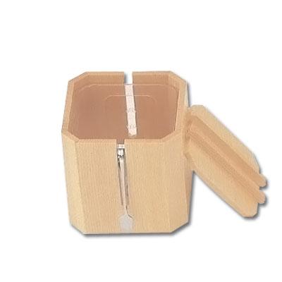木製 がり入れ 大 (中子・トング付) W-708 123×123×H123mm( キッチンブランチ )