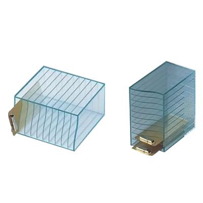 えいむ アクリル 10 段クリアーホルダー ケース HC-4 125×225×H230mm( キッチンブランチ )