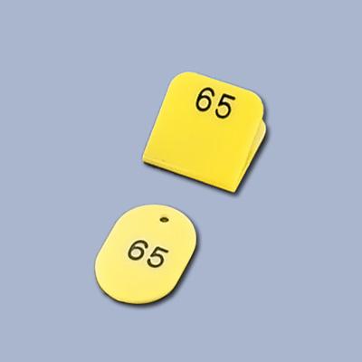親子札 (新クロークチケット) KF969 (50ヶセット) 1~50 <黄>( キッチンブランチ )