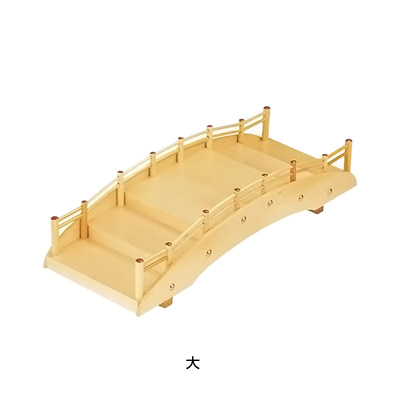 桧 太鼓橋 盛込器 大 620×310×H170mm( キッチンブランチ )