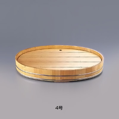 サワラ 小判 盛込桶 4号 395×260×H80mm( キッチンブランチ )