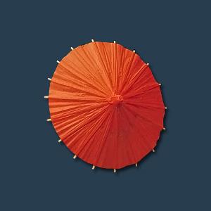 ミニ野立傘 B(中)(1ケース100入)直径150 mm<朱>( キッチンブランチ )