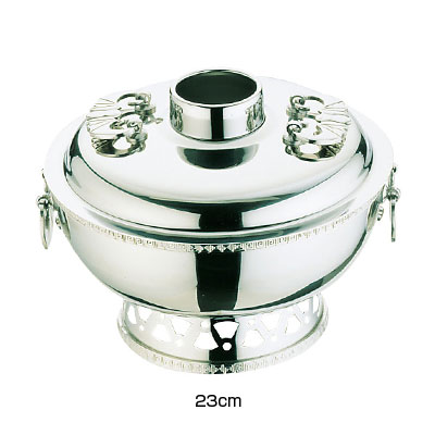 UK 18-8 雷門渕ホーコー鍋(ガス用)23cm( キッチンブランチ )
