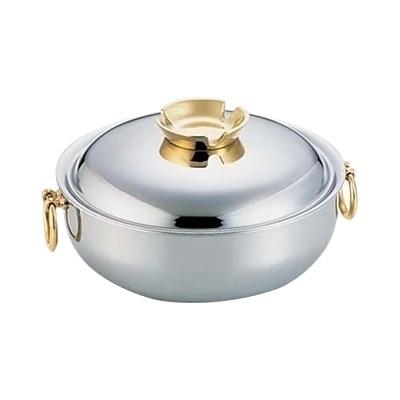 SW 電磁用 しゃぶしゃぶ鍋 30cm (真鍮ハンドルツマミ)( キッチンブランチ )