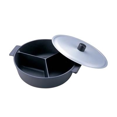 アルミ 鍋のなべ 三槽式 フッ素加工(蓋付) 30cm( キッチンブランチ ), 創作洋菓子のロイヤル:5aaa0cf9 --- roots66.jp
