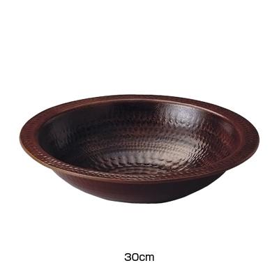 アルミ電磁用うどんすき(アメ釉) 30cm( キッチンブランチ )