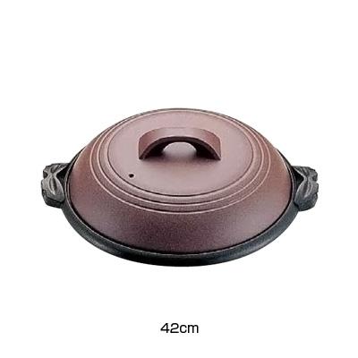 アルミ 陶板鍋素焼き茶 横綱 42cm M10-541( キッチンブランチ )