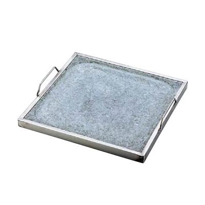 長水 石焼角型プレート YS-1435 350×350×H25mm( キッチンブランチ )