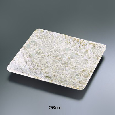 石器 正角皿 YSSJ-014 26cm( キッチンブランチ )