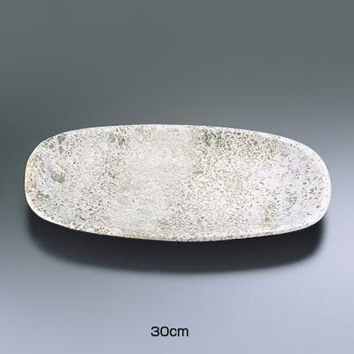 石器 角小判皿 YSSJ-015 30cm( キッチンブランチ )
