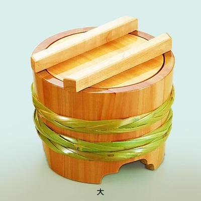 サワラ 釜揚桶 (大)直径210×H185mm