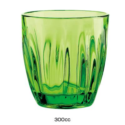 グッチーニ グラス 2496(6ヶ入)300c.c. <グリーン>( キッチンブランチ )