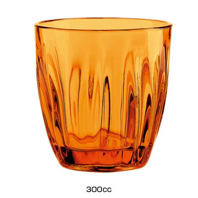 グッチーニ グラス 2496(6ヶ入)300c.c. <オレンジ>( キッチンブランチ )