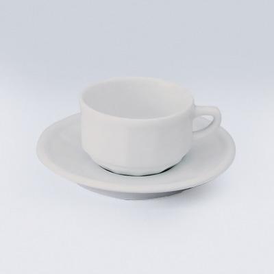 フローラ モカカップ&ソーサー PTFL M FL (6客入) 100ml <ホワイト>( キッチンブランチ )