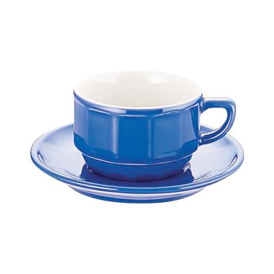 アピルコ フローラティーカップ&ソーサー PTFL T FL(6客入) 150ml <ブルー>( キッチンブランチ )