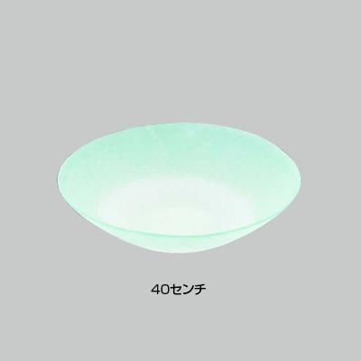 硝子和食器 若草40センチ 盛皿 直径400×H100mm( キッチンブランチ )