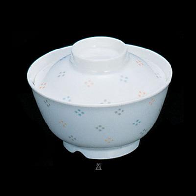 メラミン「花紋」 飯椀 蓋 M-353-KA 直径118×H35mm( キッチンブランチ )