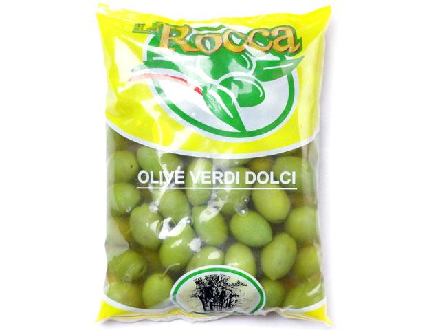 ラ・ロッカ グリーンオリーブ 大粒 500gクール便料金(税抜200円)が別途かかります。【輸入食品】